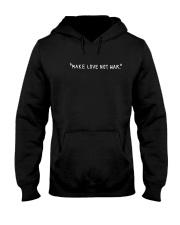 Make Love Not War - White Print Hooded Sweatshirt thumbnail