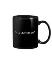 Make Love Not War - White Print Mug thumbnail