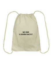 No One Is Born Racist Drawstring Bag tile