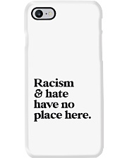 Racism and hate have no place here Phone Case tile