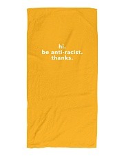 be anti-racist Beach Towel front