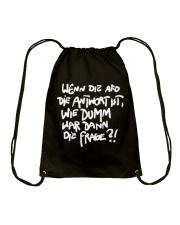 Dumme Frage Drawstring Bag thumbnail