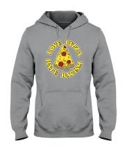 Love Pizza - Hate Racism Hooded Sweatshirt thumbnail