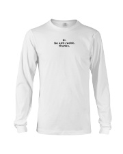 be anti-racist - Black Print Long Sleeve Tee thumbnail