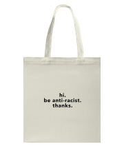 be anti-racist - Black Print Tote Bag thumbnail