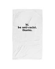 be anti-racist - Black Print Hand Towel thumbnail
