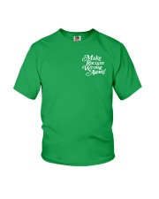 Make Racism Wrong Again - White on Green Youth T-Shirt thumbnail