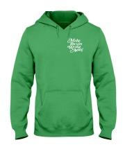 Make Racism Wrong Again - White on Green Hooded Sweatshirt thumbnail