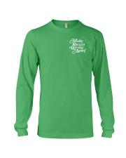 Make Racism Wrong Again - White on Green Long Sleeve Tee thumbnail