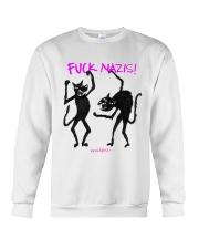 FUCK NAZIS Revoltiere by Bianca Blume Crewneck Sweatshirt thumbnail