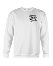 Make Racism Wrong Again - Black on White Crewneck Sweatshirt thumbnail