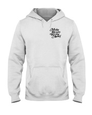 Make Racism Wrong Again - Black on White Hooded Sweatshirt thumbnail