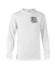 Make Racism Wrong Again - Black on White Long Sleeve Tee tile
