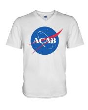 ACAB - Space Division V-Neck T-Shirt thumbnail