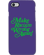 Make Racism Wrong Again - Green on Purple Phone Case thumbnail