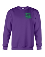 Make Racism Wrong Again - Green on Purple Crewneck Sweatshirt thumbnail
