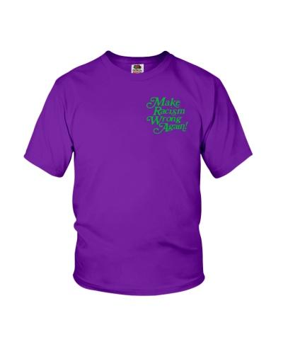 Make Racism Wrong Again - Green on Purple