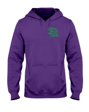 Make Racism Wrong Again - Green on Purple Hooded Sweatshirt thumbnail