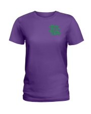 Make Racism Wrong Again - Green on Purple Ladies T-Shirt thumbnail