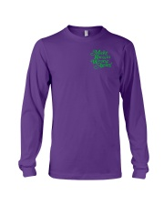 Make Racism Wrong Again - Green on Purple Long Sleeve Tee thumbnail