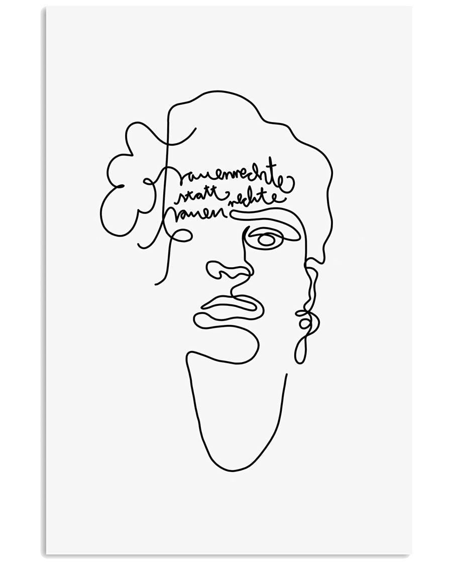 Frauenrechte statt rechte Frauen - Frida Kahlo 24x36 Poster