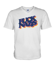 FUCK NAZIS - Retro 2 V-Neck T-Shirt thumbnail