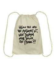 Dumme Frage Drawstring Bag tile