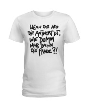 Dumme Frage Ladies T-Shirt thumbnail