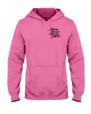 Make Racism Wrong Again - Black on Pink Hooded Sweatshirt thumbnail