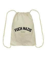 FUCK NAZIS - Worldwide Drawstring Bag thumbnail