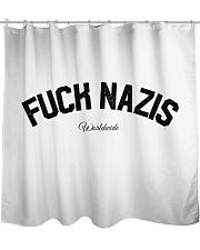 FUCK NAZIS - Worldwide Shower Curtain thumbnail