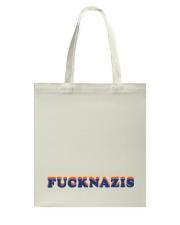 FUCK NAZIS - Retro 1 Tote Bag thumbnail