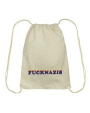 FUCK NAZIS - Retro 1 Drawstring Bag thumbnail