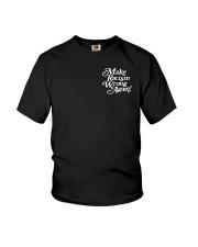 Make Racism Wrong Again - White on Black Youth T-Shirt thumbnail