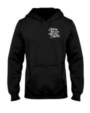 Make Racism Wrong Again - White on Black Hooded Sweatshirt thumbnail
