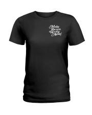 Make Racism Wrong Again - White on Black Ladies T-Shirt thumbnail