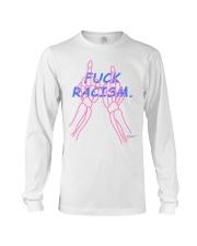 Fuck Racism - Pink Bones Long Sleeve Tee thumbnail