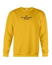 be anti-racist - Black Print Crewneck Sweatshirt front