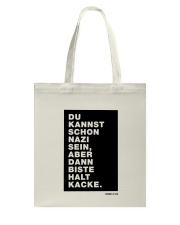 Dann biste halt Kacke Tote Bag tile