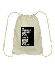 Dann biste halt Kacke Drawstring Bag thumbnail