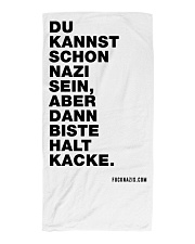 Dann biste halt Kacke Beach Towel thumbnail