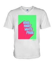 GOOD NIGHT WHITE PRIDE V-Neck T-Shirt thumbnail