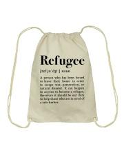 Definition Refugee Drawstring Bag thumbnail