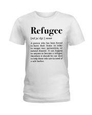 Definition Refugee Ladies T-Shirt tile