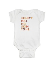 Beauty Has No Skin Tone Onesie thumbnail
