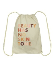 Beauty Has No Skin Tone Drawstring Bag thumbnail