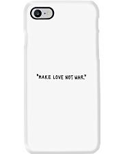Make Love Not War - Black Print Phone Case thumbnail