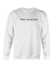 Make Love Not War - Black Print Crewneck Sweatshirt thumbnail