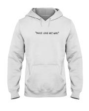Make Love Not War - Black Print Hooded Sweatshirt thumbnail