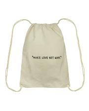 Make Love Not War - Black Print Drawstring Bag thumbnail